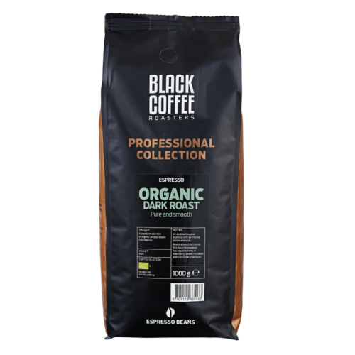 Organic Dark Roast Espresso Kaffebønner fra Black Coffee Roasters