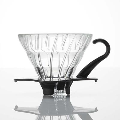 Hario 01 V60 Glas Dripper med sort hank