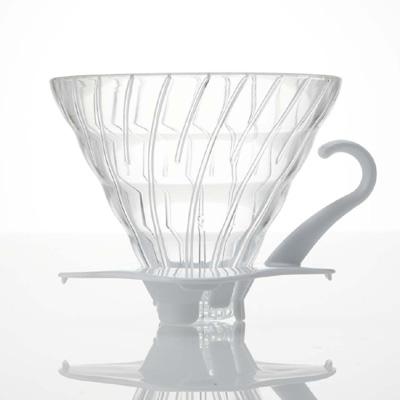 Hario V60 Glas Dripper med hvid hank