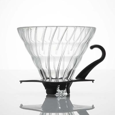 Hario V60 Glas Dripper med sort hank
