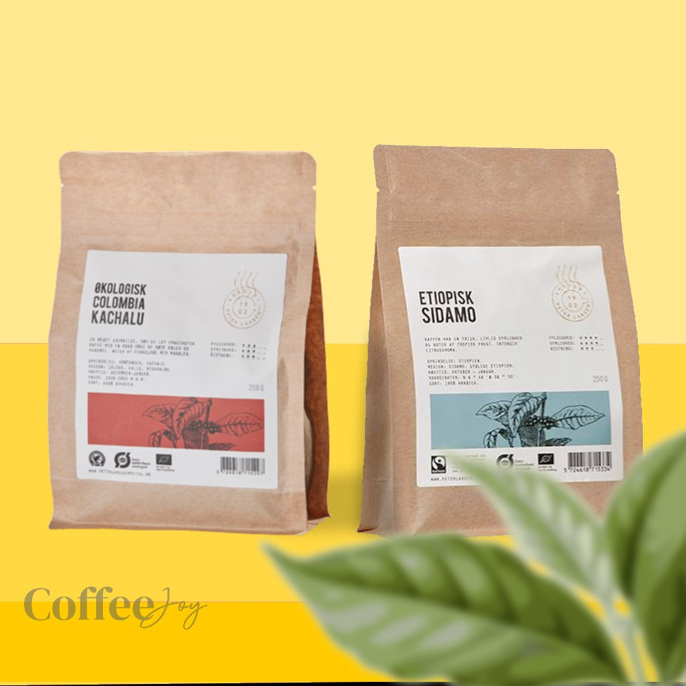 Colombia Kachalu og Etiopisk Sidamo Special Kaffe fra Peter Larsen