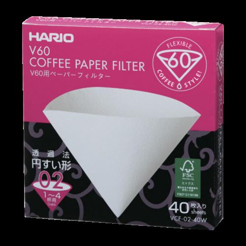 Hario V60 Hvide Kaffefiltre